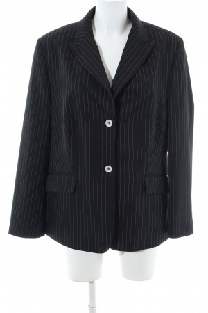 Weiß Smoking Business Streifenmuster Look Schwarz Blazer Flick vYfb76gy