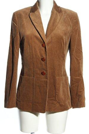 Flick Woll-Blazer braun Business-Look