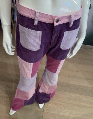 Fishbone Pantalón de campana multicolor