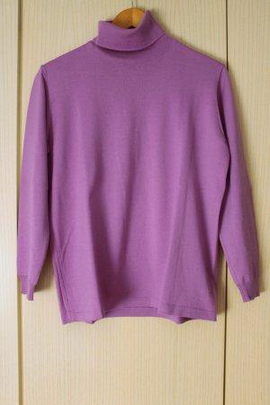 Carla Fasini Jersey de cuello alto púrpura