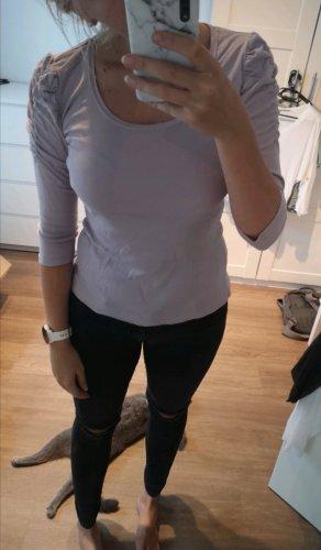 Flieder Rüschen Shirt
