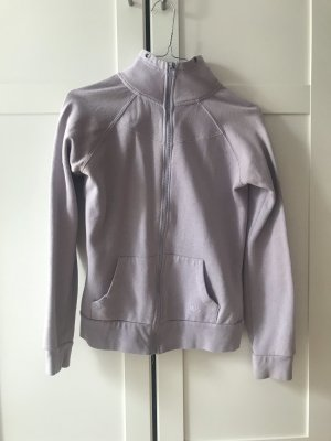 Fliederfarbende Sweatshirtjacke