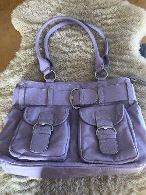 Fliederfarbene Handtasche