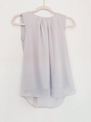 Fliederfarbene Kurzarm-Bluse