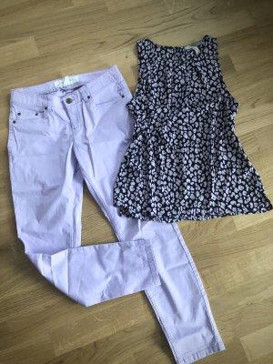 H&M Drainpipe Trousers purple