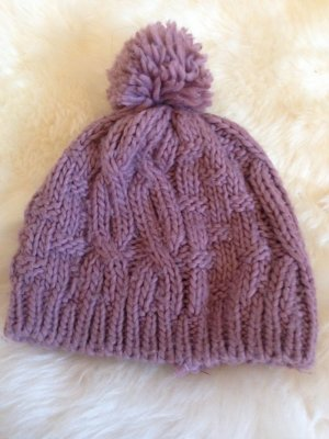 I am Knitted Hat mauve
