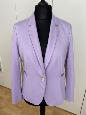 Fliederfarbener Jersey Blazer mit Perlmuttknöpfen