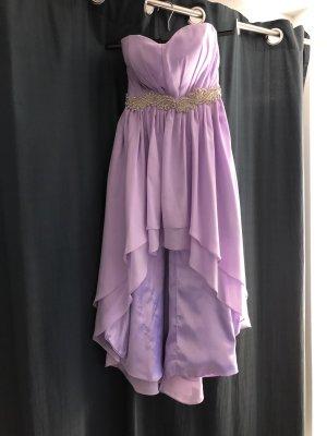 unbekannte Asymetryczna sukienka jasny fiolet-liliowy