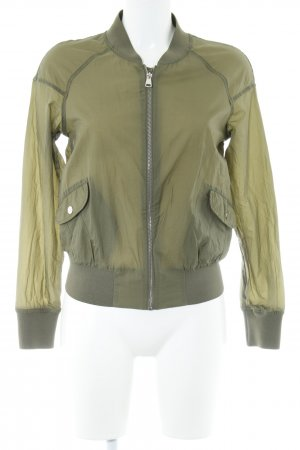 Flight Jacket olive green casual look