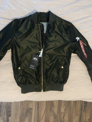 Alpha Industries Giacca volo verde scuro-nero