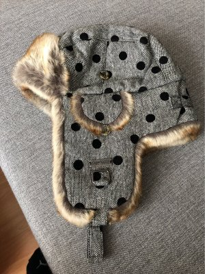 Barts Chapeau d'aviateur noir-gris