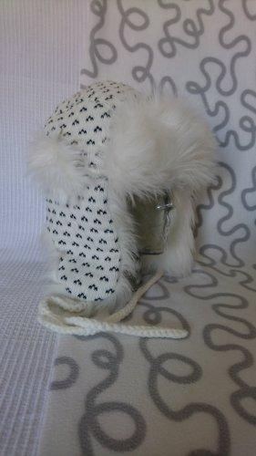 Cappello in pelliccia bianco Poliestere