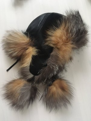 Fur Hat black-camel