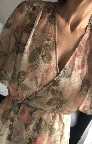 Fließende Bluse mit Blumen Muster
