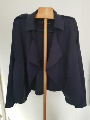 Fliessende Jacke in Marineblau