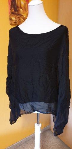 Made in Italy Silk Blouse black silk