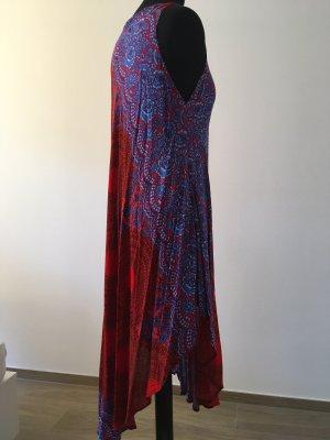 Beach Dress red-cornflower blue
