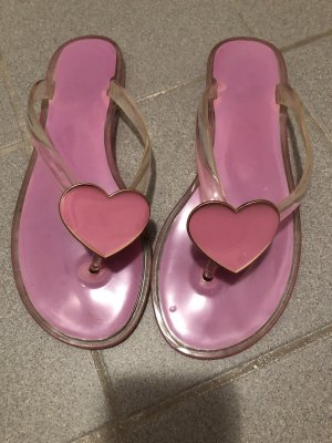 Sandalo infradito grigio chiaro-rosa