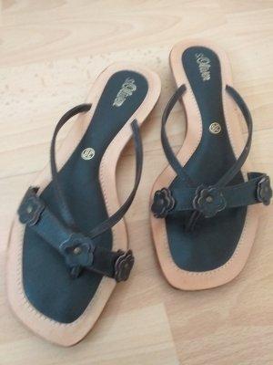 s.Oliver Flip-Flop Sandals taupe-dark brown