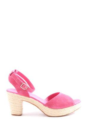 Flip*flop High Heel Sandaletten pink-wollweiß Casual-Look