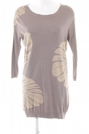Flip*flop Longpullover graubraun-nude florales Muster Casual-Look