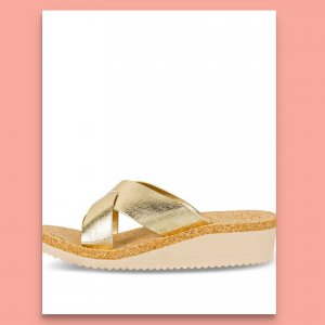 Flip*flop Sandalo con tacco oro