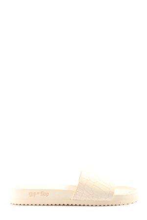 Flip*flop Ciabatta aperta bianco sporco motivo animale stile casual