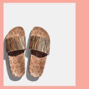 Flip*flop Zomerschoenen met hak roségoud Textielvezel