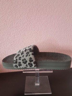 Flip*flop Zomerschoenen met hak grijs-donkergrijs Textielvezel