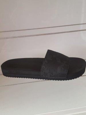 Flip*flop Heel Pantolettes black textile fiber
