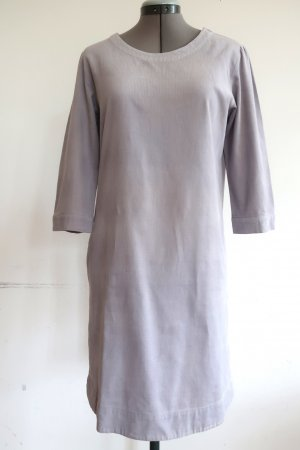 Flip Flop Puristisches Kleid aus kieselgrauem Feincord Gr. 38