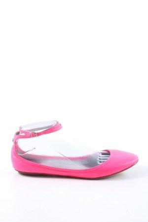 Flip*flop Ballerines à lacets rose style décontracté
