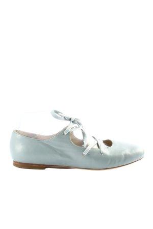 Flip*flop Riemchen Ballerinas hellgrau-weiß Business-Look