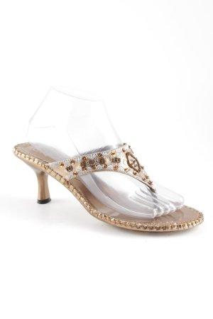Flip Flop Sandalen bronzefarben-silberfarben extravaganter Stil
