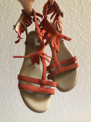 Flip*flop Roman Sandals dark orange suede