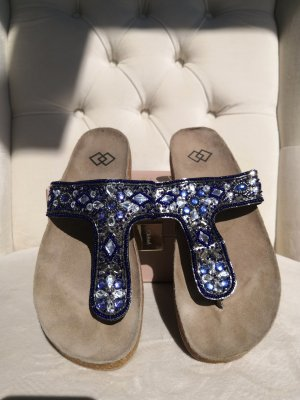 Flip Flop Sandalen in Marrocco Style in blau