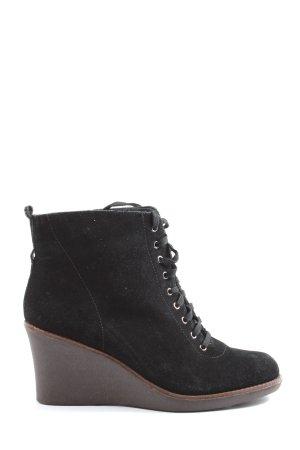 Flip*flop Wciągane buty za kostkę czarny W stylu casual