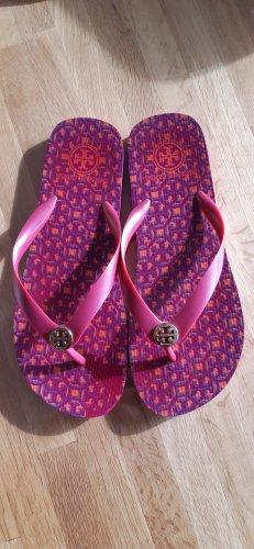 Tory Burch Sandalias de tacón con talón descubierto púrpura