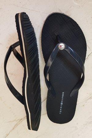 Tommy Hilfiger Flip-Flop Sandals white-dark blue