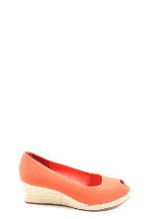 Flip*flop Sandalias tipo cuña naranja claro look casual