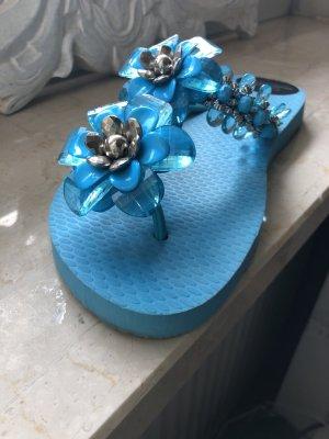 Carolina Herrera Sandały japonki jasnoniebieski Tworzywo sztuczne