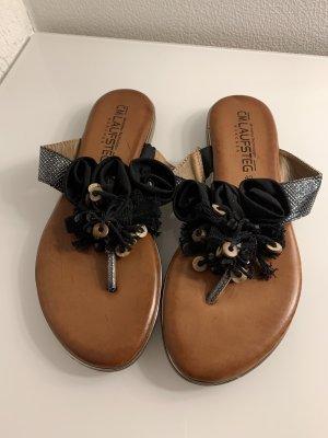 Cm Laufsteg Flip-Flop Sandals black-cognac-coloured