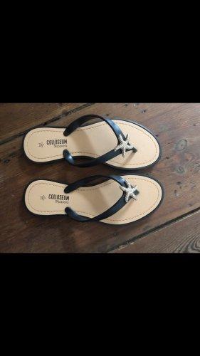 Colloseum Flip flop sandalen zwart-goud