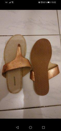 Graceland High-Heeled Toe-Post Sandals rose-gold-coloured