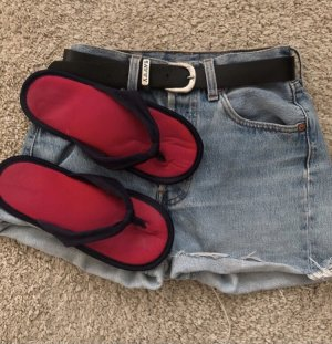Pantoufles rouge-rouge fluo