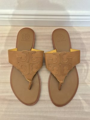 Tory Burch Flip-Flop Sandals brown-light brown leather