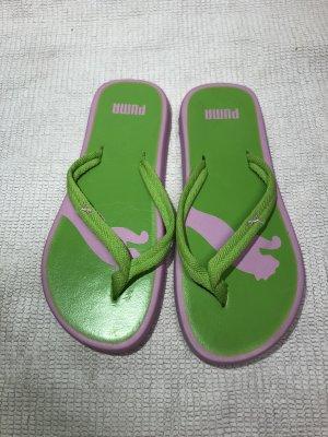 Puma High-Heeled Toe-Post Sandals pink-green