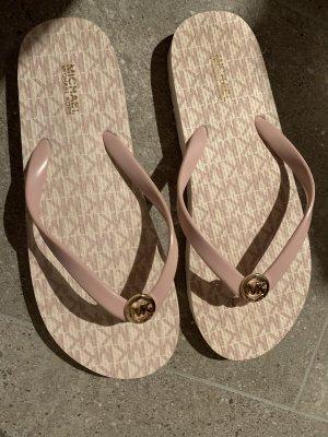 Michael Kors Flip-Flop Sandals pink-white