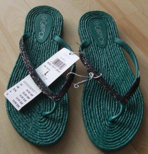 Cartoon Flip flop sandalen turkoois