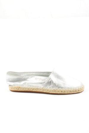 flipflop Espadrille sandalen zilver casual uitstraling